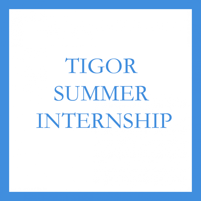 TIGOR announces summer 2021 internship opportunities!